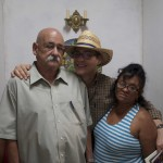Evelio Delgado, Frank Carreño y Clara Calderín