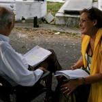 Sanila Rodríguez con Reinaldo Miravalles